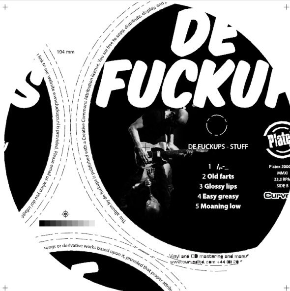 de fuckups album label side b