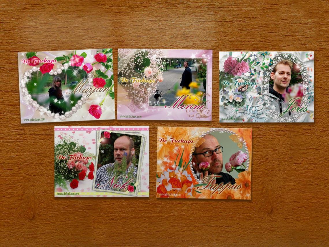 """de fuckups gratis kaartenset """"Romance"""""""